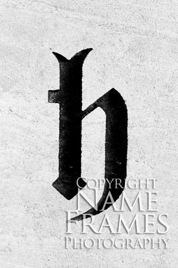 Letter H print - Version 4
