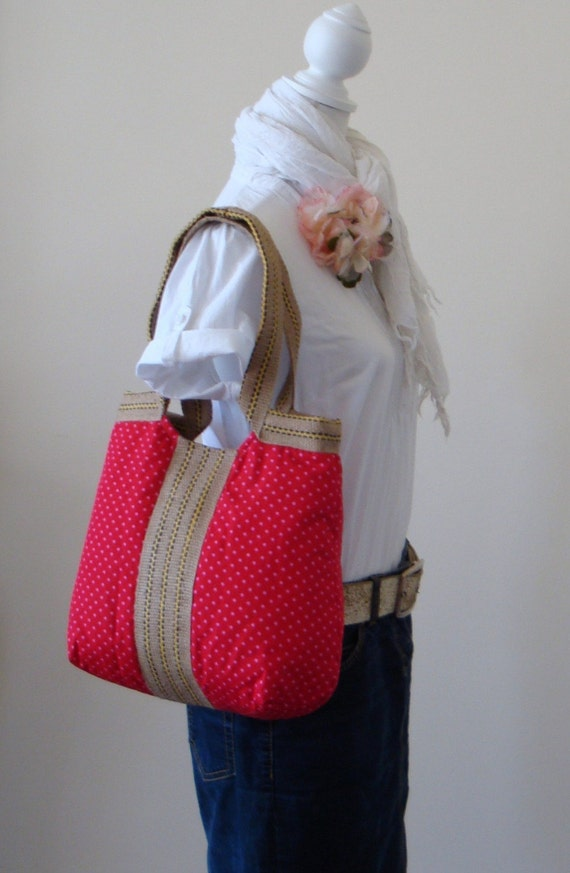 Polka dottie hobo bag