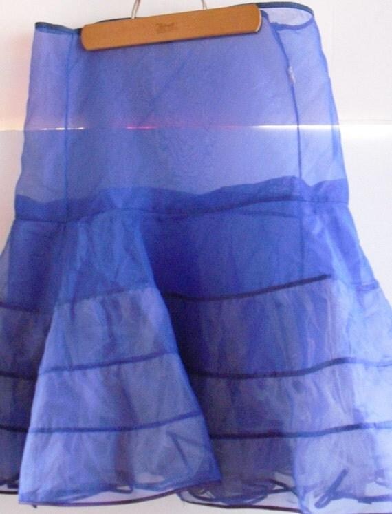 Vintage Blue Crinoline Petticoat Slip