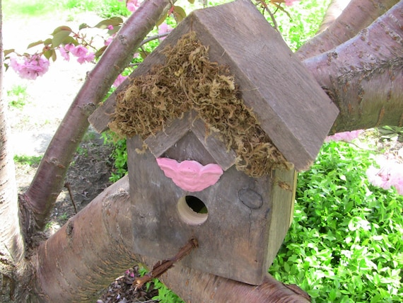 Pink Angel House Birdhouse