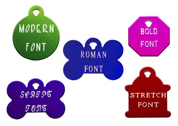 PET ID PERSONALIZED ON TWO-SIDED LARGE OCTAGON TAG IN 10 COLORS