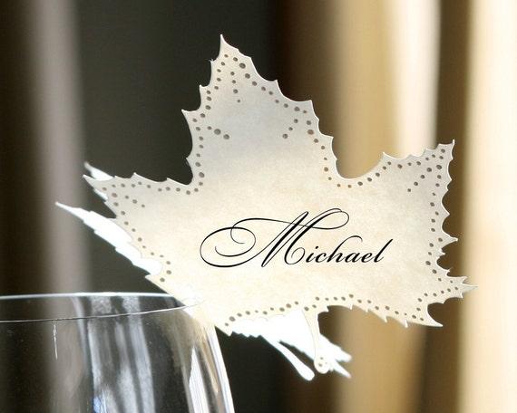 Autumn Leaf Place Cards - set of 100