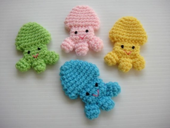 Crochet Applique - Baby Jellyfish