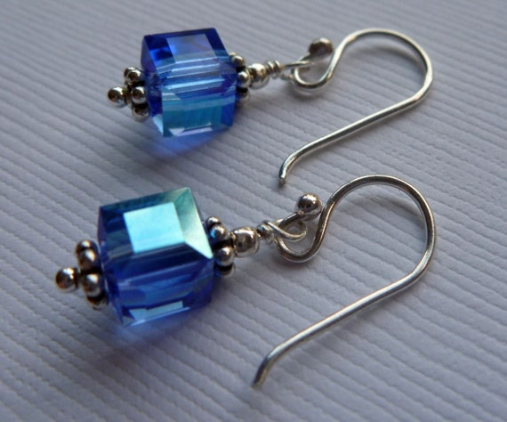 Blue Summer Ice Sterling Silver Earrings