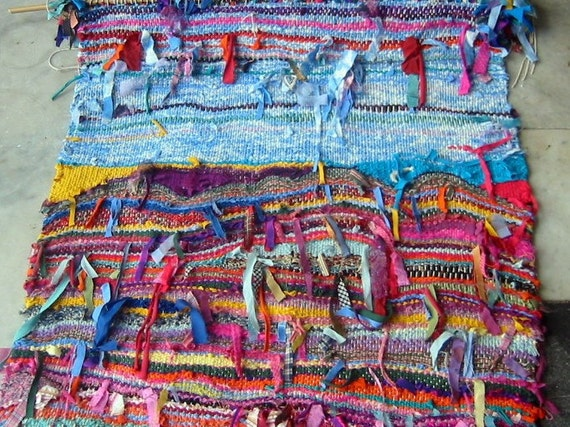 Fibre Art Hand Woven Ribbon Weaving Wall Hanging Textile Art