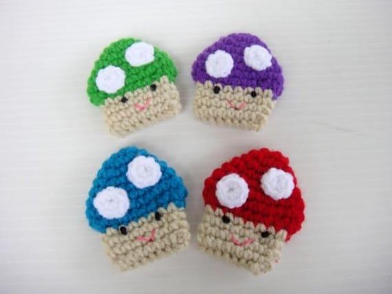 Crochet Applique - Baby Mushroom