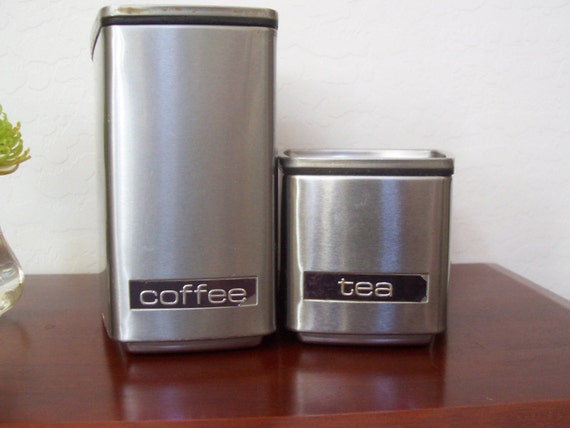 ON SALE Vintage Lincoln Beautyware Coffee and Tea Canisters
