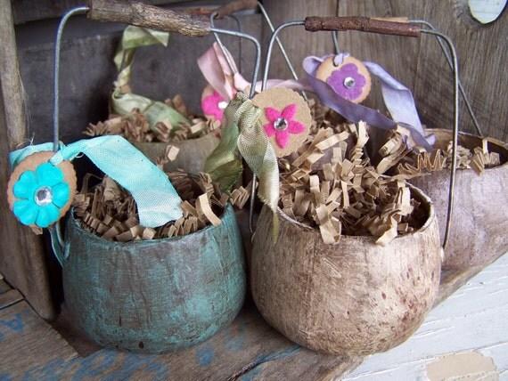 Сад Горшки Примитивные Сельский Декор дома sweetlibertyprims на Etsy