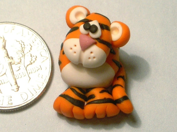 Polymer Clay Tiger Bead
