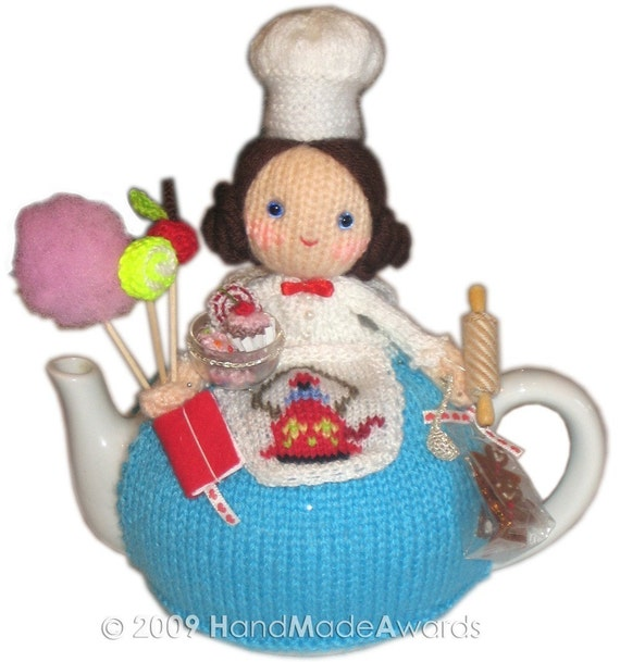 Sweet PASTRYCOOK TEA COSY pdf KNIT PATTERN