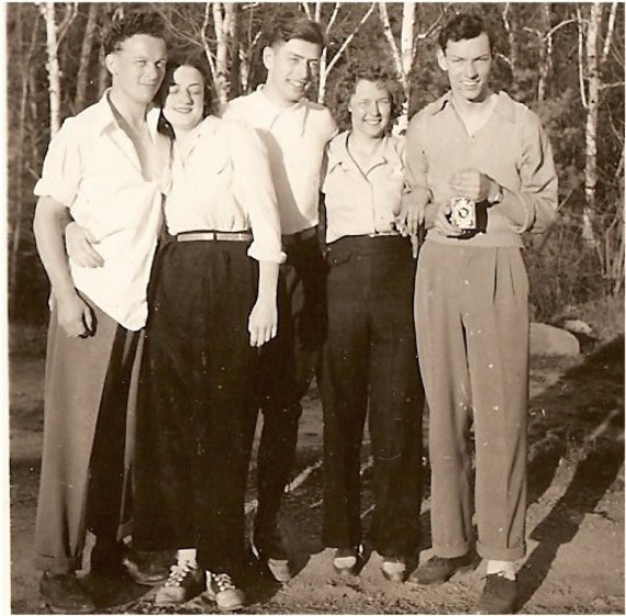 Teen Saddle Shoes Vintage 1940s PHOTO SNAPSHOT Teen GUYS and by ...