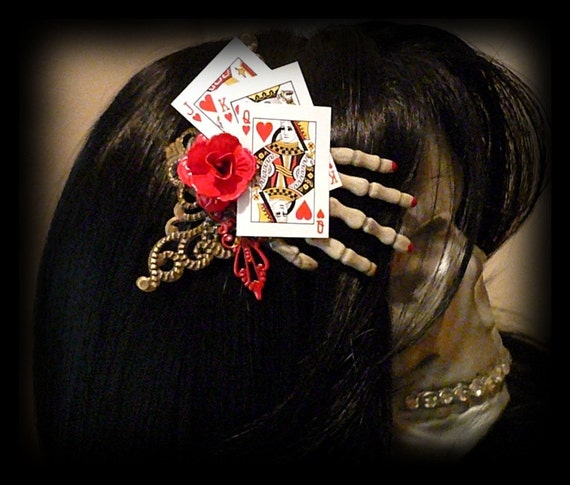 Hair Clip - Playing Games Creepy Skeleton Hand Hair Clip