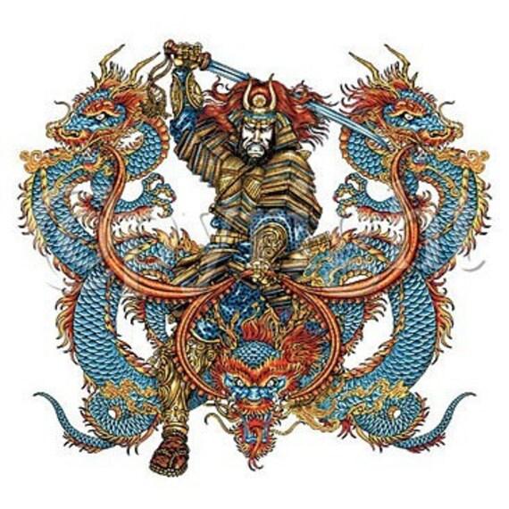 Samurai Dragon New T Shirt All Sizes S M L Xl 2x 3x 4x 5x Tattoo Art