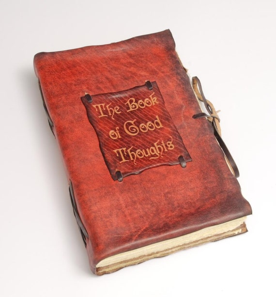 The Book of Good Thoughts. Beautiful Red Leather Book