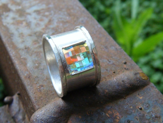 SALE Chessboard Sterling Silver Ring