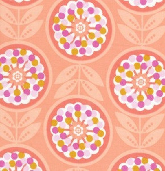 WEEKENDS by Erin McMorris, Lollies in peach, 1 yard