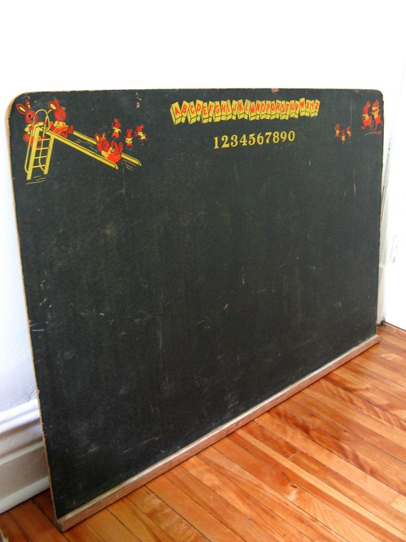 Vintage children blackboard