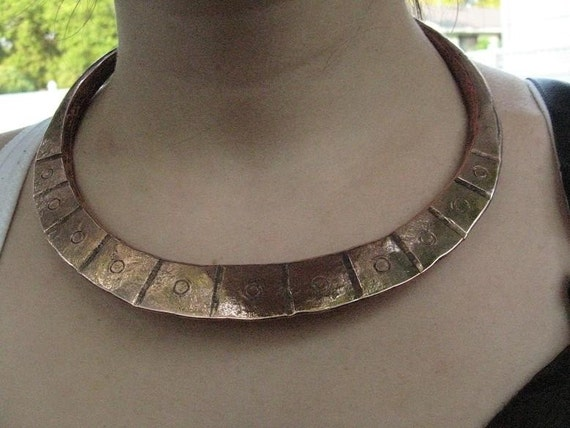 African Copper Tribal Necklace