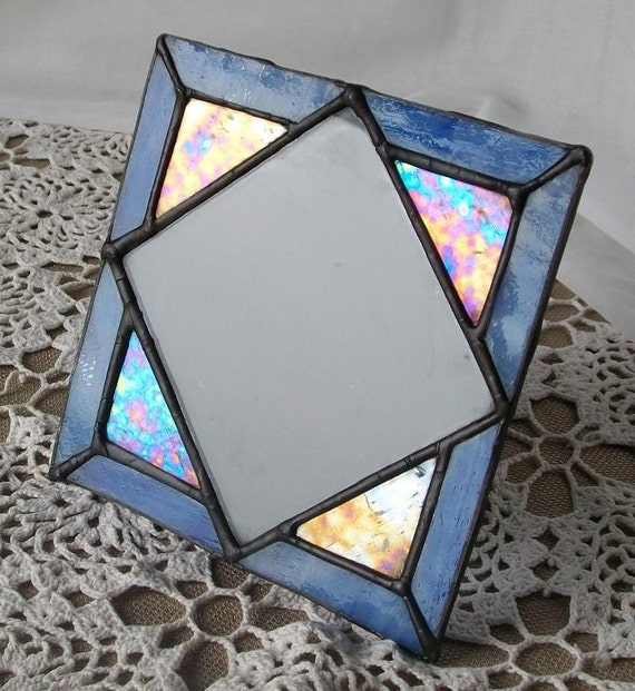 stained glass picture frame - Shimmering Sea