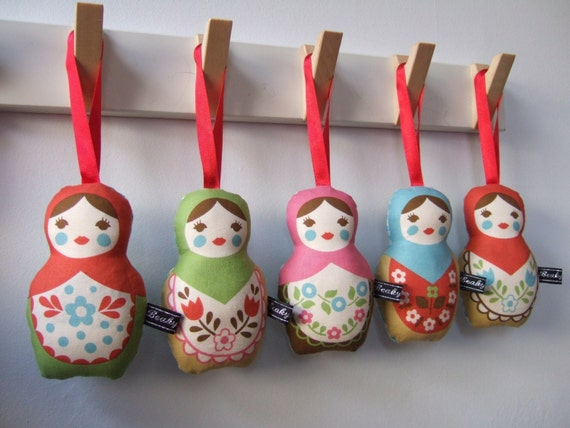 Lavender Matryoshka dolls set of 5