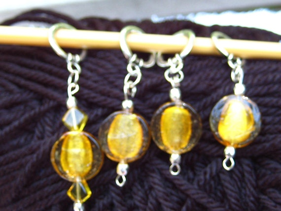 Dumbledore's Lemon Drop Stitch Markers