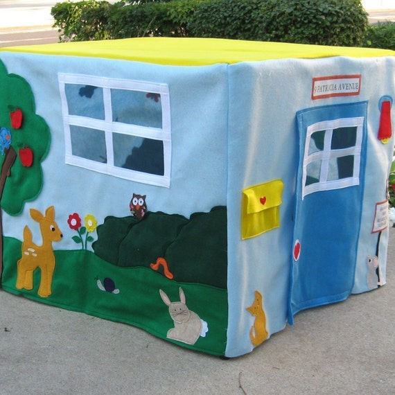 The Animal Sanctuary Card Table Playhouse, 32 Friendly Animals, Fish and Bugs, Custom Order, Personalized,