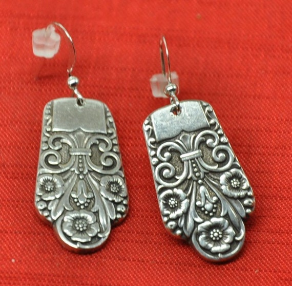 Precious Silver Spoon Earrings