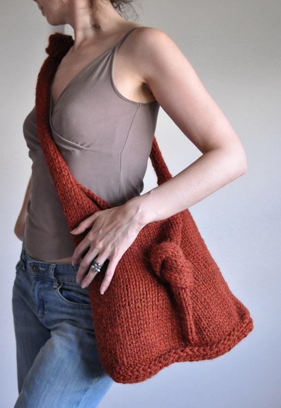 KnitKnot сумка в пряность - эко-мода Индивидуальные заказы в 16 цветов