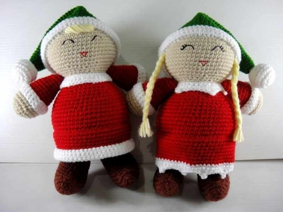 Crochet Pattern - SANTA'S LITTLE HELPER - Christmas / Toys / Decoration