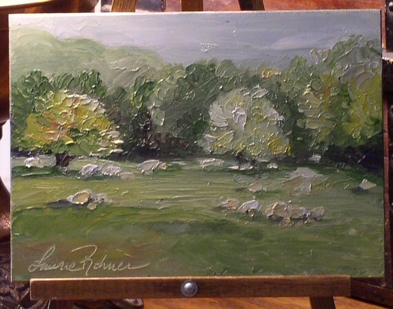 Sheep in a Vermont Field