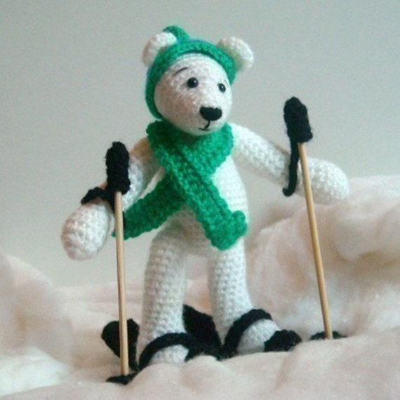PDF Crochet Pattern - Sking Polar Bear