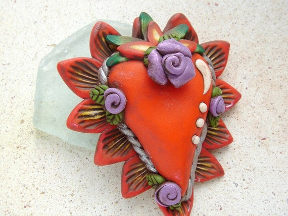 Sacred Heart Brooch 1