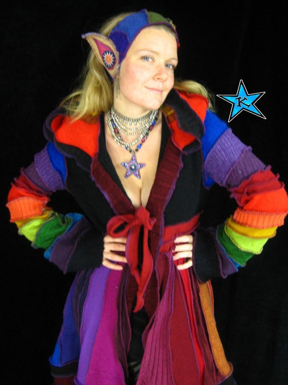 RESERVED for Jenny - EvErLaStINg GoBsToPpEr - Long Upcycled Sweater  Coat - Elf Couture