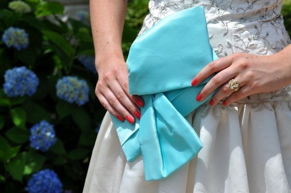 Clutch - The Christine Clutch in Tiffany Blue