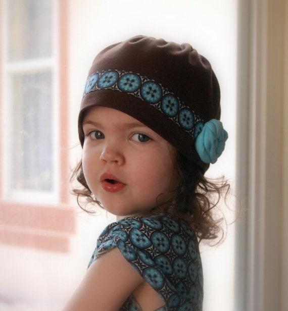 دستباف کلاه ، سبک Cloche ، شکلات قهوه ای ، فیروزه ای ، آبی (اندازه های سفارشی)