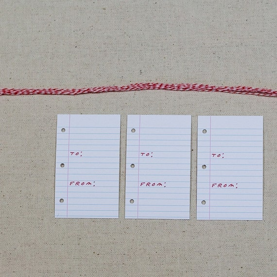 Notebook Gift Tags