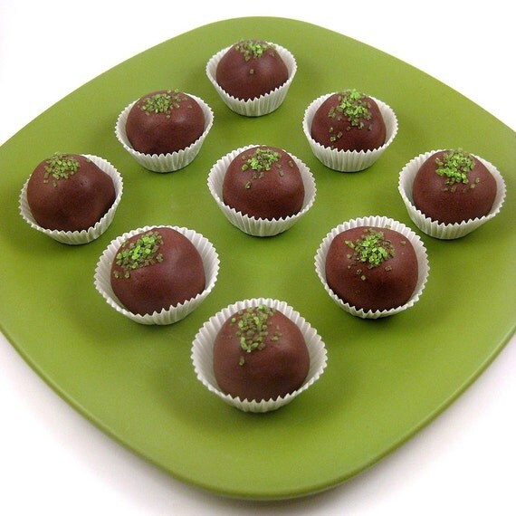 Chocolate Mint Cake Truffles