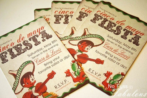 Invitation . Vintage Fiesta Collection . by Loralee Lewis
