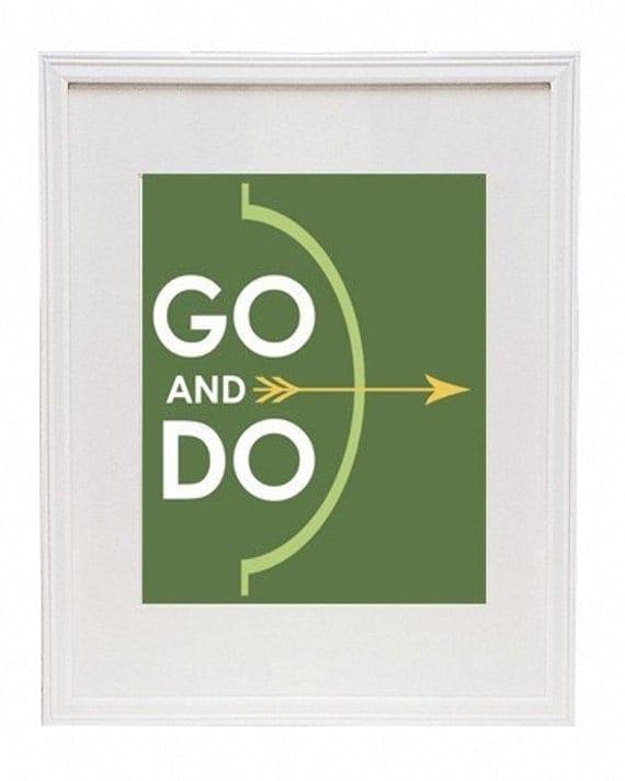 Go and Do 8 x 10 Modern Art Print