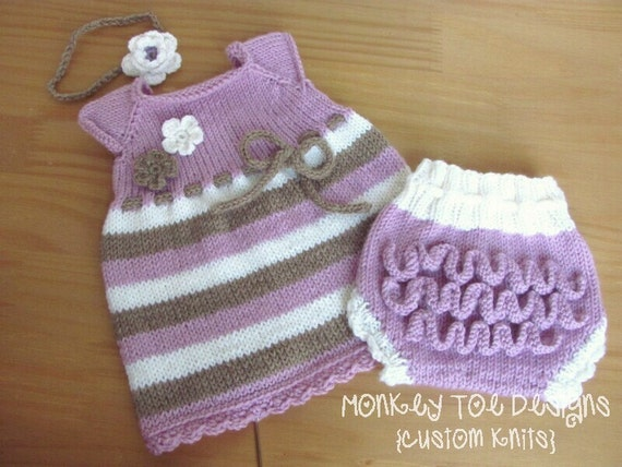 Custom Hand Knit Cap Sleeve Baby Toddler Top Tunic