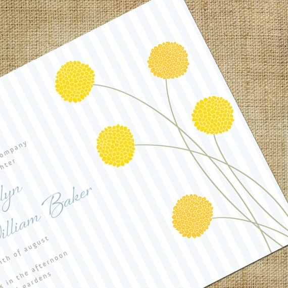 Billy Button Wedding Invitation