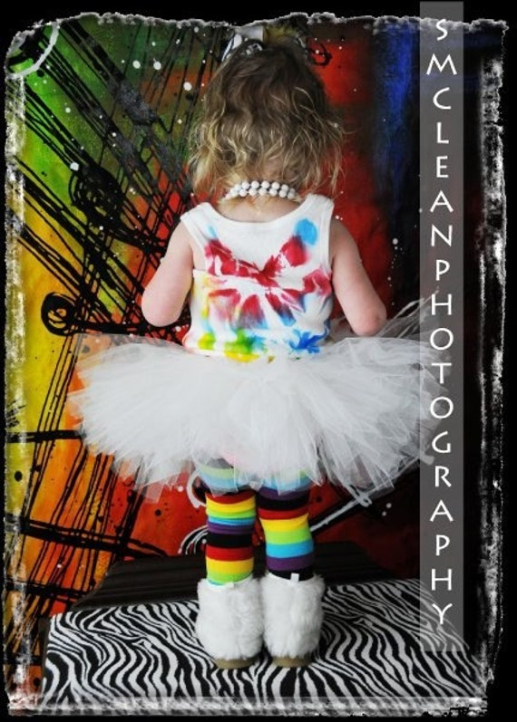 Red, Blue, and Yellow Tank and White Tutu