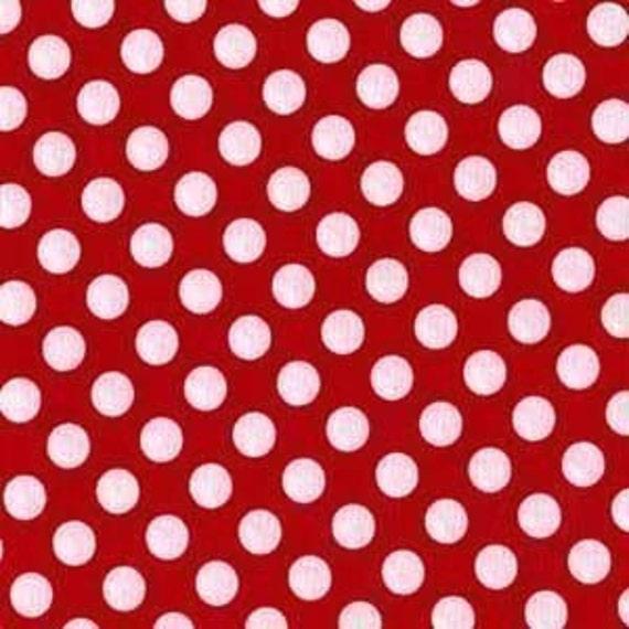 LAST PIECE, Michael Miller, Minnie Ta Dots, Red, 9 X 44 inches