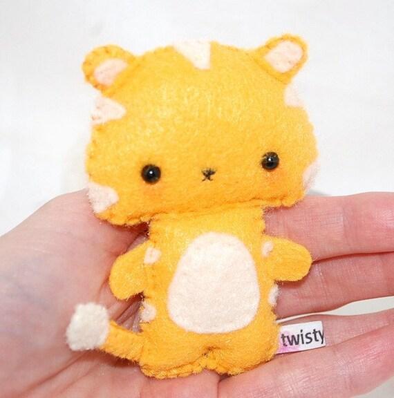Little Orange Tiger - Kawaii Felt Plush