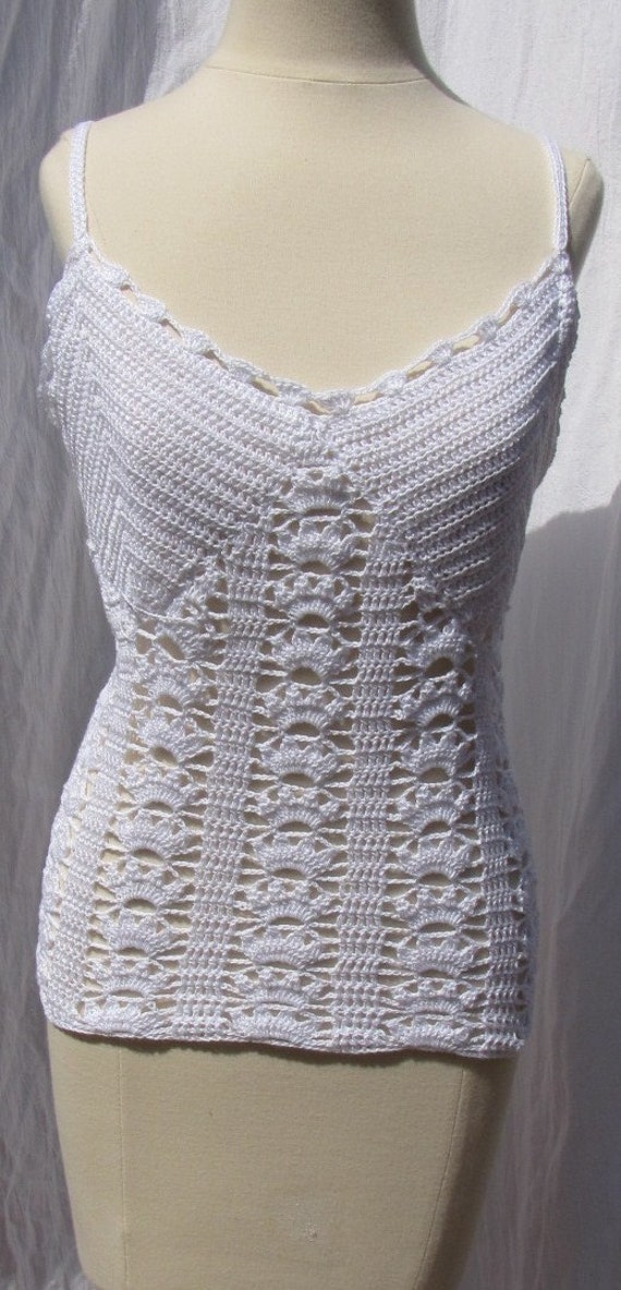 Summer Top Crochet in White