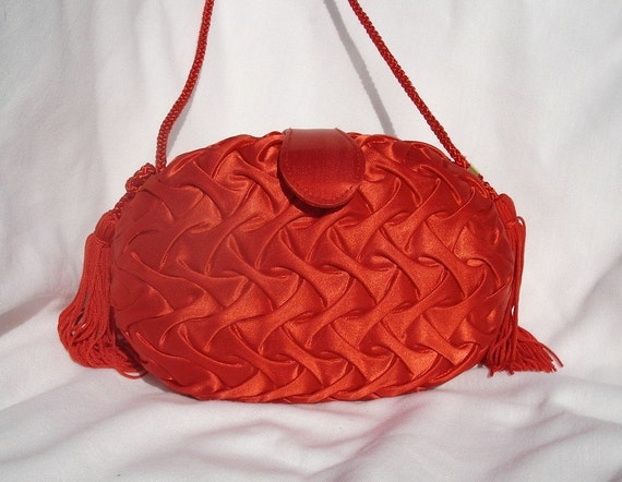 Retro Red Evening Purse, by La Regale