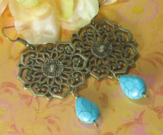 RESERVE listing for OneBeloved only, please - Chennai Filigree - earrings