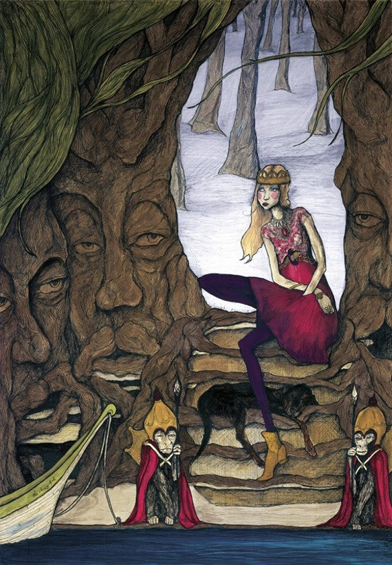 Camille and The Trees 13inx19in Art Print