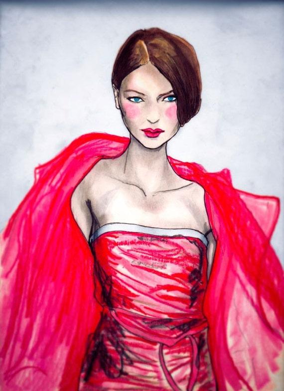 Donna Karan Sundance 2009 8inx11in Art Print