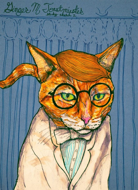 Ginger Toastmeister 13inx19in Art Print